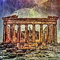 The Acropolis Of Athens by Justyna JBJart