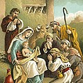 The Adoration Of The Shepherds by English School