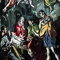 The Adoration Of The Shepherds From The Santo Domingo El Antiguo Altarpiece by El Greco Domenico Theotocopuli