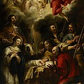 The Adoration Of The Shepherds by Jan Cossiers
