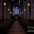 The Aisle Of Princeton Chapel by Emily Kay