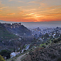 The Alhambra And Granada At Sunset by Guido Montanes Castillo