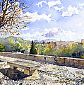 The Alhambra In Autumn by Margaret Merry