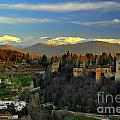 The Alhambra Palace Granada Spain by Guido Montanes Castillo