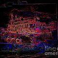 The Alton Belle In Neon Framed by Kelly Awad