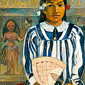 The Ancestors Of Tehamana Or Tehamana Has Many Parents.merahi Metua No Tehamana. by Paul Gauguin