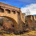 The Ancient Bridge At Ponte Novu In Corsica by Jon Ingall