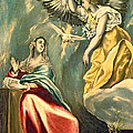 The Annunciation, C.1595-1600 Oil On Canvas by El Greco