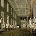 The Antiquities Gallery Of The Academy Of Fine Arts, 1836 Oil On Canvas by Grigory Mikhailov