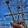 The Approaching Storm - Spanish Galleon by Lee Dos Santos