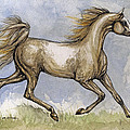 The Arabian Mare Running by Angel  Tarantella