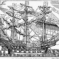 The Ark Raleigh The Flagship Of The English Fleet From Leisure Hour by English School