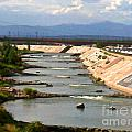 The Arkansas River And Pike's Peak by Kelly Awad