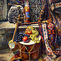 The Armenian Still-life With A Armenian Doll by Meruzhan Khachatryan