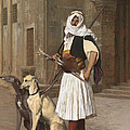 The Arnaut With Two Whippets by Jean-Leon Gerome