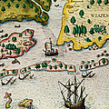 The Arrival Of The English In Virginia by Theodore de Bry