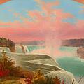 The Artist At Niagara by Mountain Dreams
