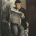 The Artists Father Reading L Evenement by Paul Cezanne