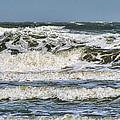 The Atlantic Ocean At Sullivan's Island by Kathy Clark