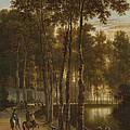 The Avenue Of Birches by Jan Hackaert