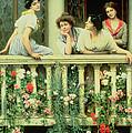 The Balcony by Eugen von Blaas