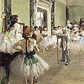 The Ballet Class by Edgar Degas