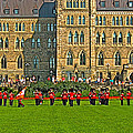 The Band Played On In Front Of Parliament Building In Ottawa-on by Ruth Hager