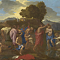The Baptism Of Christ by Nicolas Poussin