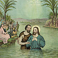 The Baptism Of Jesus Christ Circa 1893 by Aged Pixel