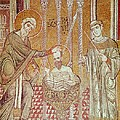 The Baptism Of St. Paul By Ananias, From Scenes From The Life Of St. Paul Mosaic by Byzantine School