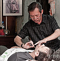 The Barber Shaves Another Customer 02 by Rick Piper Photography