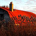 The Barn  At Sunset by Marysue Ryan