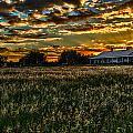 The Barn At Sunset by Scott Mullin