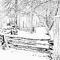 The Barn / Oliver Miller Homestead After A January Snow by Digital Photographic Arts