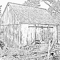 The Barn At The Oliver Miller Homestead by Digital Photographic Arts