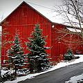 The Barn In Wintertime by Jeanne Geidel-Neal