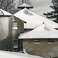 The Barns At Castle Hill After The Snow by David Stone