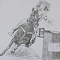 The Barrel Racer by Wanda Dansereau