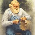 The Basketmaker In Pastel by Paul Krapf