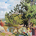 The Bath by Boris Kustodiev