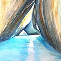 The Baths Azul by Carlin Blahnik CarlinArtWatercolor