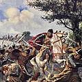 The Battle Of Bouvines, 1214 by John Harris Valda