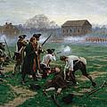 The Battle Of Lexington, 19th April 1775 by William Barnes Wollen