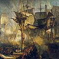 The Battle Of Trafalgar by JMW Turner