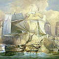 The Battle Of Trafalgar by William John Huggins