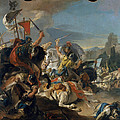 The Battle Of Vercellae by Giovanni Battista Tiepolo