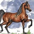 The Bay Arabian Horse 17 by Angel Ciesniarska
