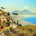 The Bay Of Naples by Alois Arnegger