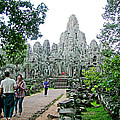 The Bayon In Angkor Thom In Angkor Wat Archeological Park-cambodia by Ruth Hager