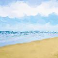 The Beach Abstract Art by Ann Powell